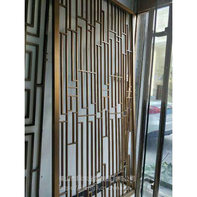 装饰不锈钢隔断,不锈钢花格厂家订制