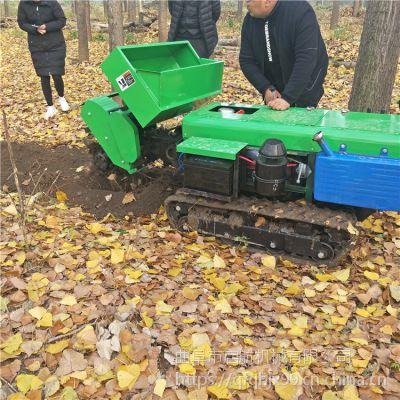 原地旋转履带开沟机 启航多功能自走式施肥机 苹果园松土除草机型号