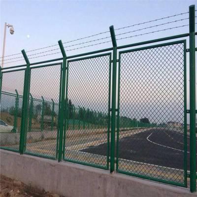 可定制桥梁防护网 高速铁护栏 钢板网护栏 绿色防抛网