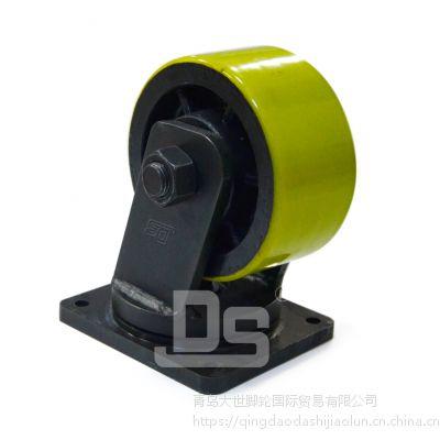 大世脚轮胎批发 多尺寸韩式pu脚轮 聚氨酯轮子 手推车轱辘 高载重重型工业脚轮