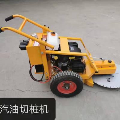 天德立QZJ-600Q汽油机动力切桩机