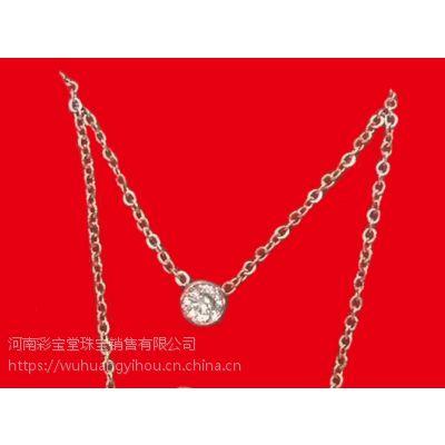 河南五皇一后珠宝供应钛合金项链LOVE项链 爱的项链 珠宝首饰女