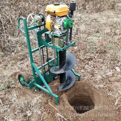 挖坑机多种规格选择质量保证富兴-篱笆桩打孔机-手提挖坑打洞机