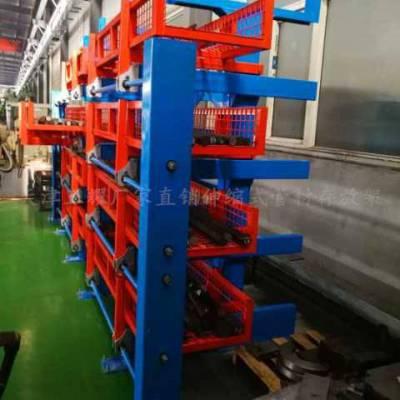 山西放钢板的货架 伸缩抽屉式货架 大型板材存放 6米长板存取方便