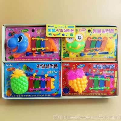 卡通动物造型四4音阶手敲琴益智早教儿童音乐玩具小朋友礼物礼品