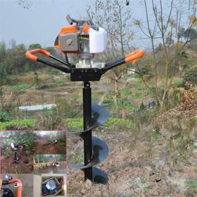 采用混合油汽油挖坑机 润丰 钻树坑用打洞机