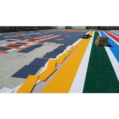 供应欧宝瑞幼儿园操场运动场安全新型弹垫悬浮地板