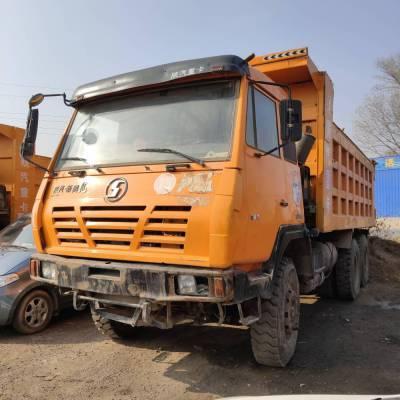 山西忻州二手车市场低价出售多台陕汽奥龙自卸车