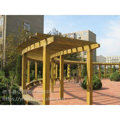 江西抚州市水泥仿木长廊安装 上饶市小区仿木花架效果图