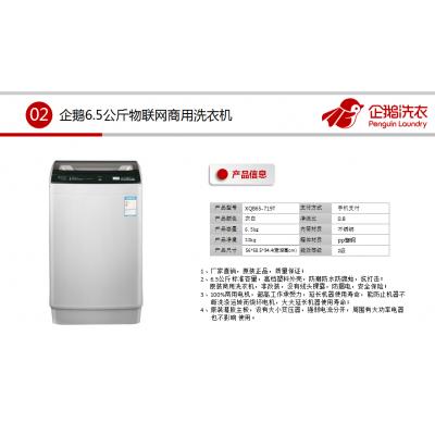 企鹅6.5/8/10公斤投币扫码自助商用洗衣机