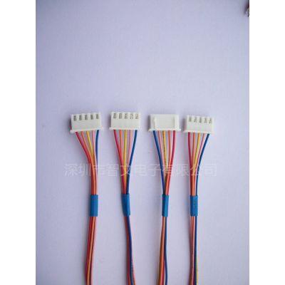 厂家定制端子连接线 XH2.54mm-2P 线束加工 电子线 LED灯条线 UL1007 PVC