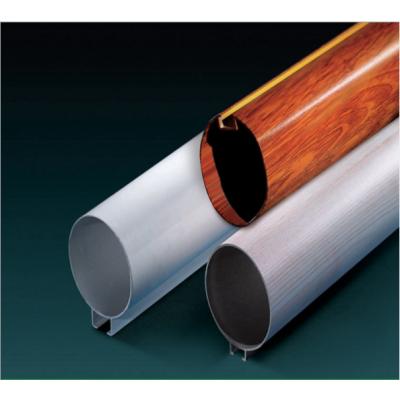 帝欣餐厅专用木纹铝圆管天花 直径50mm厚度0.9mm O型圆管定制生产厂家