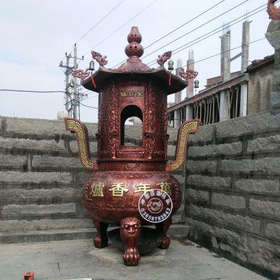 专业铸造广州祠堂铸铁烧纸炉 宗祠化宝炉那里有生产
