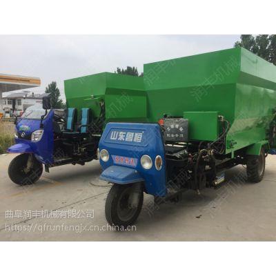 羊场可定做草料运料机 大规模养殖撒料车 新型三轮车带动投料车