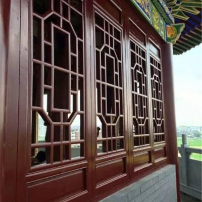 实木门窗-万年红木雕装修业务-古建实木门窗