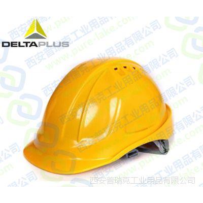 陕西西安代尔塔102106 M型增强版ABS透气防砸防撕裂高空作业建筑工地工厂车间安全帽CH4ABS
