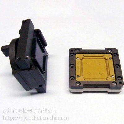 定制QFP176-0.4 芯片测试座 翻盖双扣旋钮测试治具