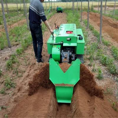 自走式农用施肥机 润华 果园专用开沟施肥机 履带式旋耕除草机