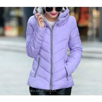2018女士中长款棉袄批发河南漯河批发市场女装韩版冬款时尚棉服外套货源