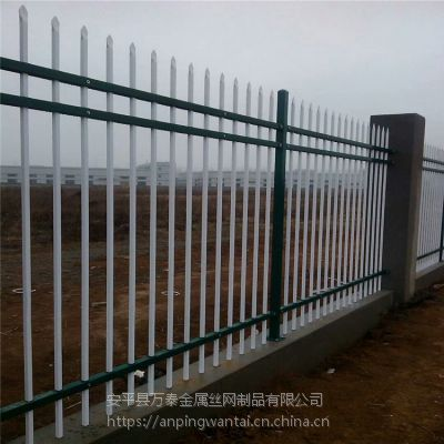 建筑工程蓝白围栏 喷塑组装护栏 农村庭院围墙栏杆