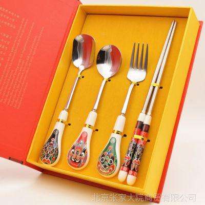 特色戏曲脸谱 实用民间工艺品 马勺餐具福禄寿喜 中国风纪念礼品