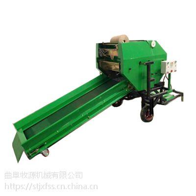玉米秸秆青储打捆机 青贮打捆流程操作 青储玉米秸秆打捆机