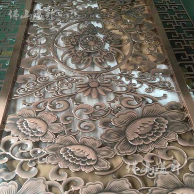 常德铝板雕花隔断