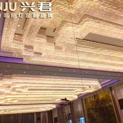 长方形吸顶灯 酒店大堂非标灯具 中山非标灯具定制厂家