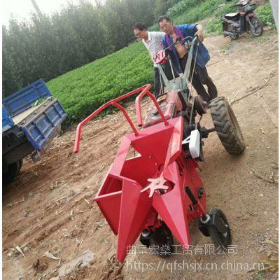 小型玉米秸秆粉碎收玉米机器 扒皮苞米手扶收获机