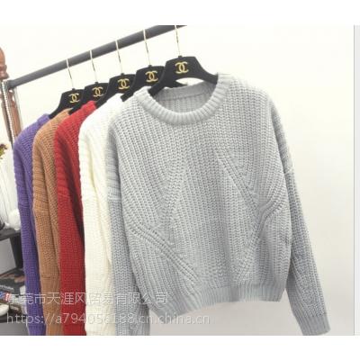 便宜女式毛衣冬季毛衣加厚毛衣清货针织衫清货库存打底衫韩版宽松毛衣清货