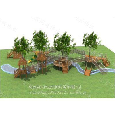 北京同兴伟业直销大型木质拓展训练、沙池玩具、异型爬网、组合滑梯,景区、公园、幼儿园