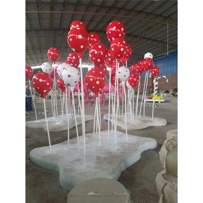 清远玻璃钢五彩气球雕塑 商业街布景雕塑摆件