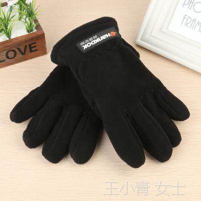 冬季新款毛绒手套 摇粒绒手套 加绒加厚保暖手套 骑行手套男