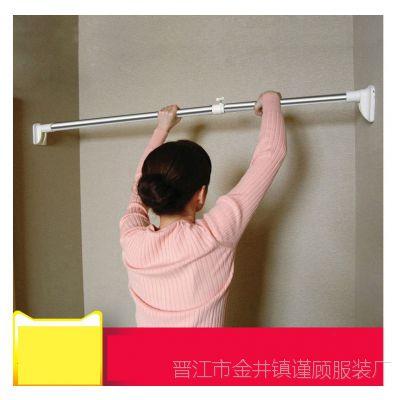 洗手间墙面房间挂式隔断遮挡浴室杆隔帘 卧室 免打孔纱窗衣架墙壁