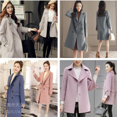 杭州便宜女装呢子大衣便宜女式外套地摊货便宜中长款毛呢外套处理
