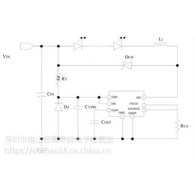 供应嘉泰姆CXLE86102驱动IC可线性调光调节LED灯降压型高亮度恒流芯片内置MOS