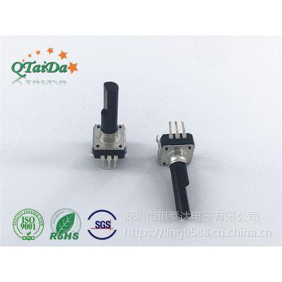 深圳厂家EC112开关旋转编码器五脚柄长25mm调音响调光调速 摇摇车