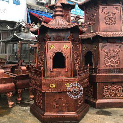 广州铸铁元宝炉定做 海丰塔型烧纸炉生产厂家