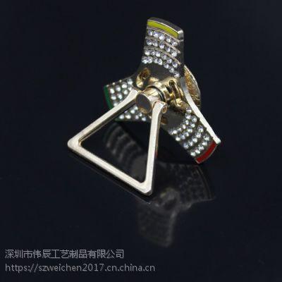 指尖陀螺镶钻懒人扣,金属指环扣制作,深圳金属手机支架
