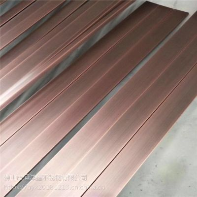 水镀红铜不锈钢拉丝板 不锈钢拉丝板 不锈钢镀铜板