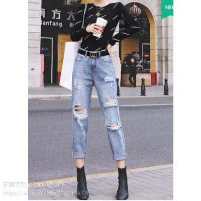 便宜女士牛仔裤便宜服装杂款小脚裤女装裤子广州沙河地摊货清仓2-5元清