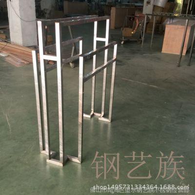 不锈钢服装展示架道具架304拉丝磨砂全含镜面展示衣架批发定做