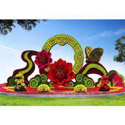 四川代表性雕塑造型 成都特色主题仿真绿雕造型