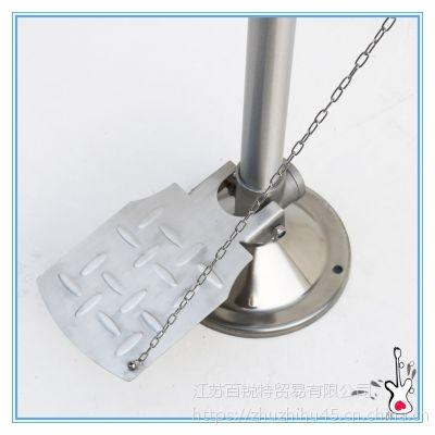 全国抢购带踏板洗眼器 BTL22立式保温不锈钢翻盖洗眼器