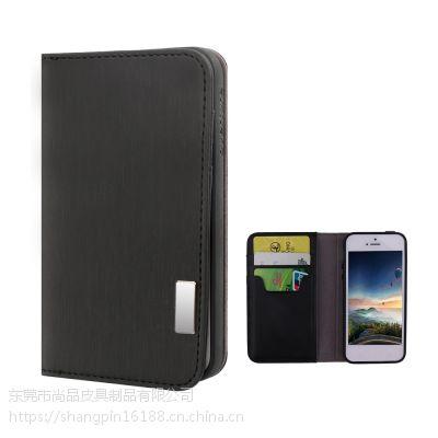 速卖通专供 PU皮革手机保护壳钱夹翻盖式5.5寸手机皮套 广州工厂