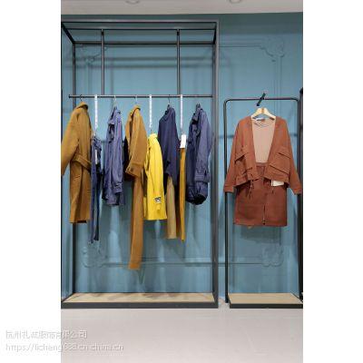 华丹尼阿里巴巴女装折扣批发 虎门女装品牌折扣批发尾货绿色大衣