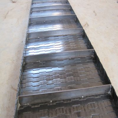 非标定做网带输送机传送带不锈钢挡板链板