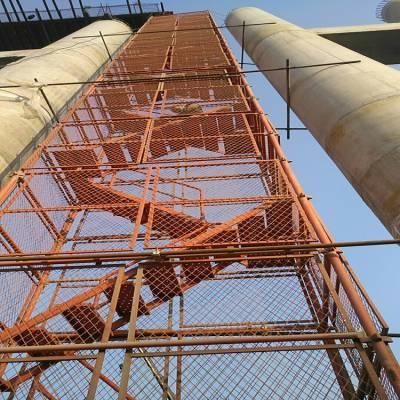 安全防护爬梯 厂家加工梯笼爬梯 通达可量身定做