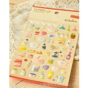 韩国FUNNY手机贴纸日记水晶贴纸厨房