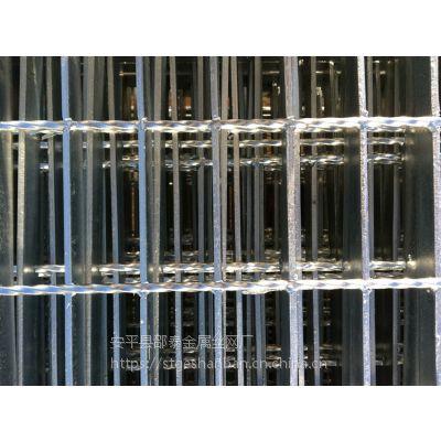 现货供应陕西热镀锌钢格板 榆林热镀锌平台钢格栅板走道板网格板